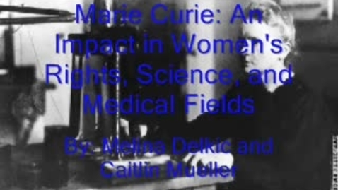Thumbnail for entry Marie Curie