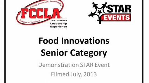 Thumbnail for entry FCCLA STAR Events Demonstration Food Innovations Senior (Kasson Mantorville)