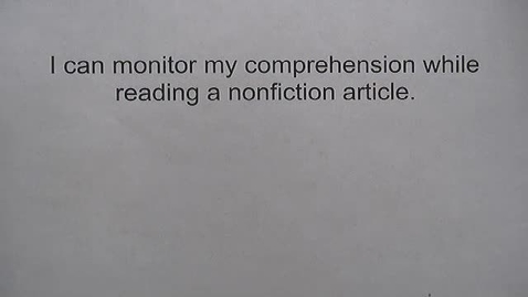Thumbnail for entry Monitor My Comprehension