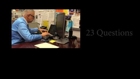 Thumbnail for entry 23 Questions with Mr. Weber (Full Interview)