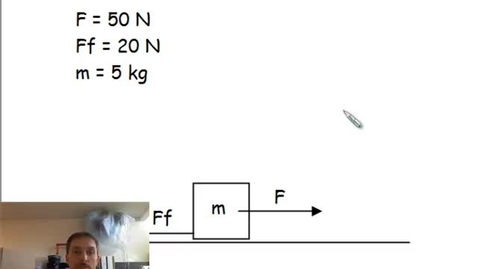 Thumbnail for entry Horizontal Force and Newton's 2nd Law