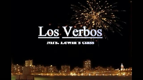 Thumbnail for entry Los verbos- Lewin