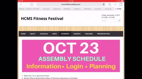 Thumbnail for entry Fit Fest Directions Nov 3, 2017