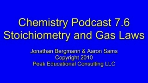 Thumbnail for entry Chem 7.6 Gas Stoichiometry a