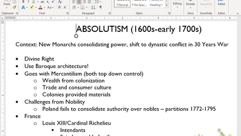 Thumbnail for entry Euro Review 5: Absolutism