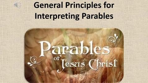Thumbnail for entry Hermeneutics - Parables Video