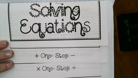 Thumbnail for entry Solving 2 Step Equations