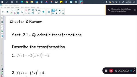 Thumbnail for entry Alg 2B Ch 2 review (part 1)