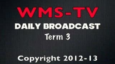 Thumbnail for entry Morning Broadcast May 1, 2013