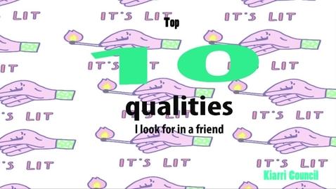 Thumbnail for entry Kiarri's Top 10 Human Qualities - BB 2016/2017