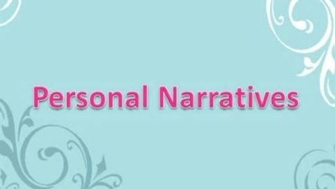 Thumbnail for entry Narratives