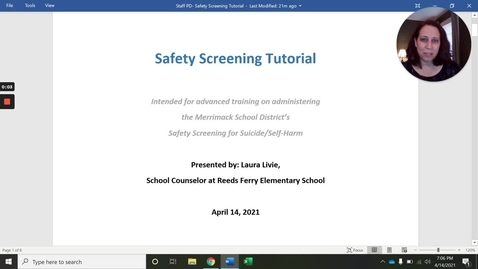 Thumbnail for entry Safety Screening Tutorial