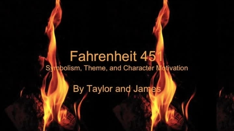 Thumbnail for entry James and Taylor 451 Movie
