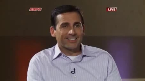 "Thumbnail for entry Steve Carell's satirical spoof of LeBron's ""The Decision"""