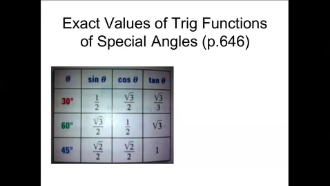 Thumbnail for entry Algebra 2B Section 12.1 (PART 3)
