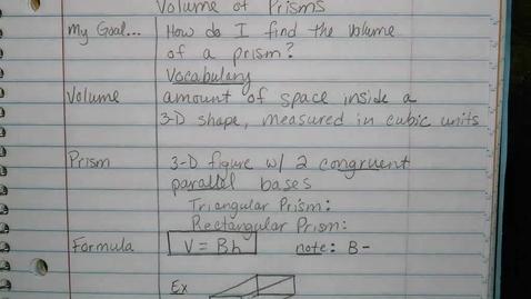 Thumbnail for entry Volume of Prisms