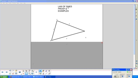 Thumbnail for entry Law of Sines, Proof & 2 examples