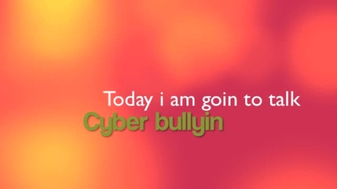 Thumbnail for entry Cyber-bullyingC