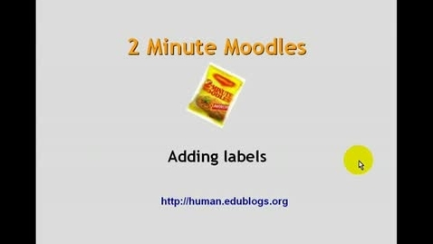 Thumbnail for entry Moodle:  creating a label