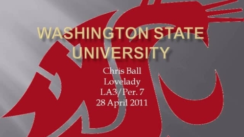 Thumbnail for entry Washington State University