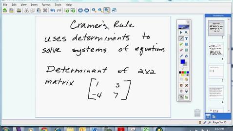 Thumbnail for entry Cramer's Rule
