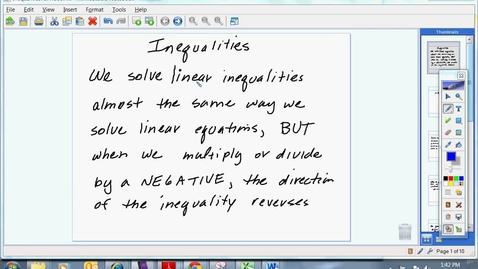 Thumbnail for entry Inequalities