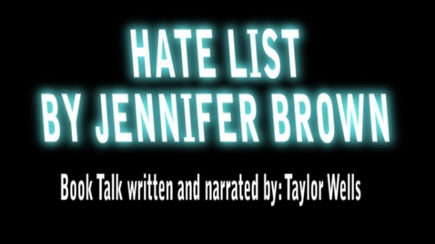 Thumbnail for entry Hate List by Jennie Brown