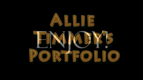 Thumbnail for entry Allie Timmers Final WOBN portfolio