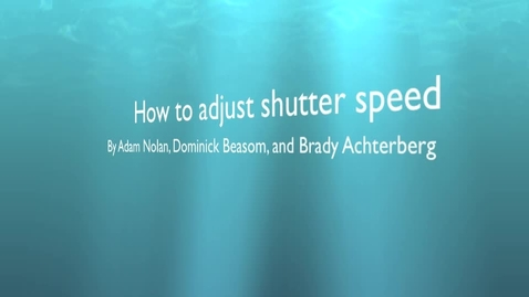 Thumbnail for entry description of shutter speed