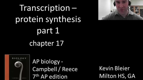 Thumbnail for entry Transcription (protein synthesis part 1 of 2)
