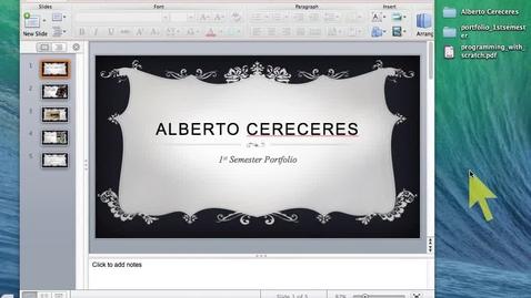 Thumbnail for entry 4 Portfolio Adding Word and Movie Files