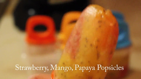 Thumbnail for entry Strawberry Mango Papaya Popsicle Recipe