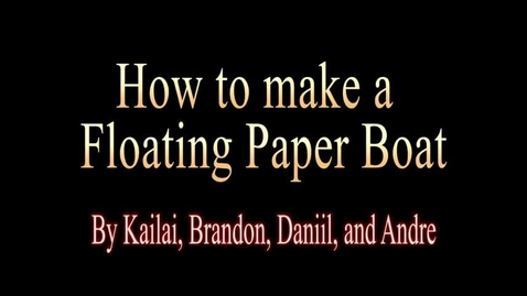 Thumbnail for entry How to Build a Paper Boat