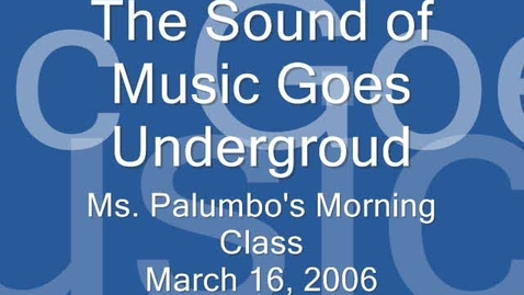 Thumbnail for entry Going Underground-- 2007 AM Class