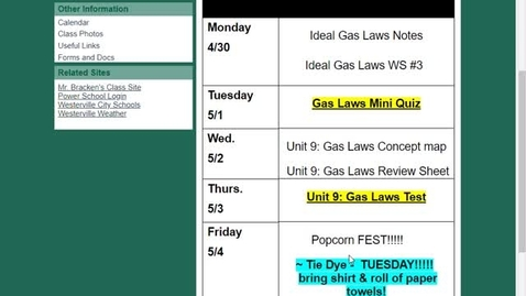 Thumbnail for entry Ideal Gas Law Notes