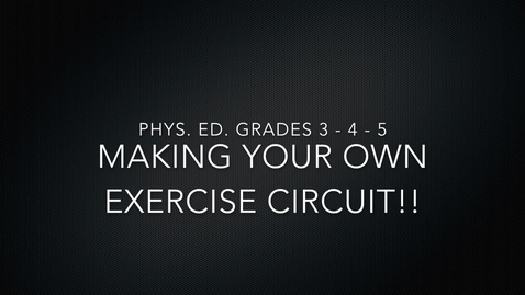 Thumbnail for entry PE Lesson - Circuits