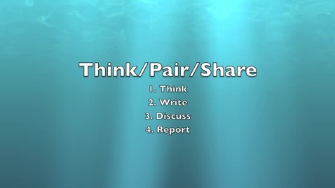 Thumbnail for entry Think/Pair/Share Instructional Model