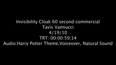 Thumbnail for entry Invisibility Cloak Commercial