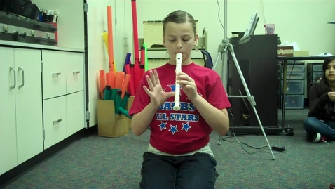 """Thumbnail for entry 5A Purple 5 """"High Dive"""" recorder solo 2012"""