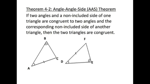 Thumbnail for entry Angle-Angle-Side Triangle Congruence Theorem