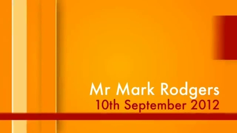 Thumbnail for entry Mark Rodgers Interview