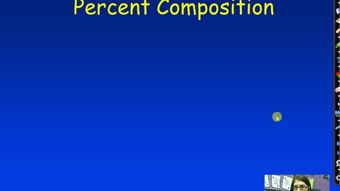 Thumbnail for entry Unit 3 Percent Composition