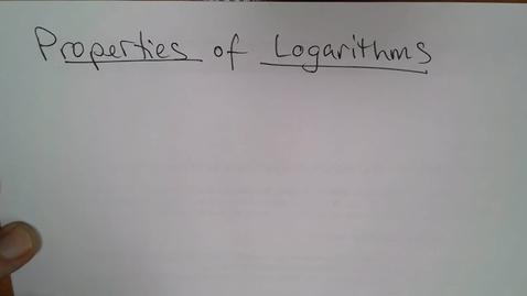 Thumbnail for entry Adv Mth BD E06 (TSW 6) - Properties of Logarithms