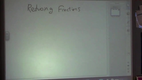 Thumbnail for entry Reducing Fractions