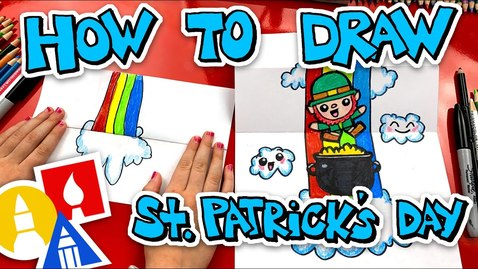 Thumbnail for entry How To Draw St Patricks Day Folding Surprise + Challenge Time
