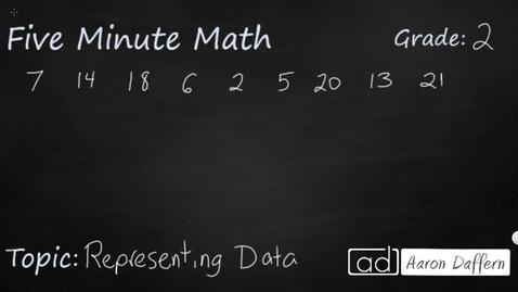 Thumbnail for entry 2nd Grade Math Representing Data
