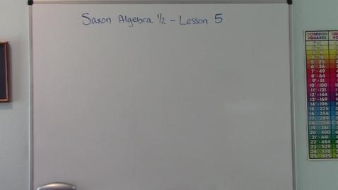 Thumbnail for entry Saxon Algebra 1/2 - Lesson 5 - Word Problems