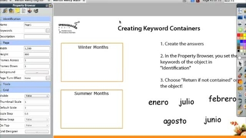 Thumbnail for entry Create Keyword Containers on your Promethean Board