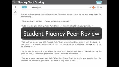 Thumbnail for entry SRA Reading Laboratory™ 2.0 eSampler: Peer Fluency Check