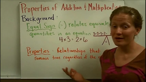 Thumbnail for entry Properties of Addition and Multipliation